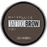 Maybelline New York Tattoo Brow Pomade Pot Cera per Sopracciglia Pigmentata Effetto Matte, Tenuta fino a 24h, Resistente all'Acqua, 05 Dark Brown