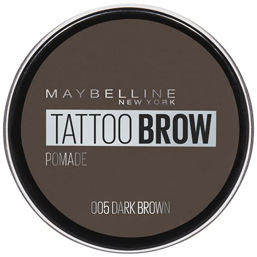 Maybelline Eyebrow, Tattoo Brow Longlasting Eyebrow Pomade Pot Dark Brown