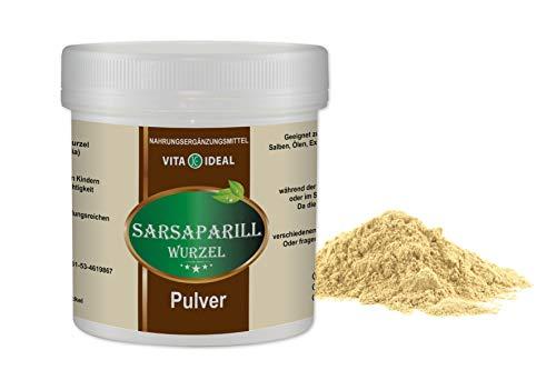 VITAIDEAL ® Sarsaparill Wurzel PULVER 300g (Smilax aristolochiaefolia) + Messlöffel von NEZ-Diskounter