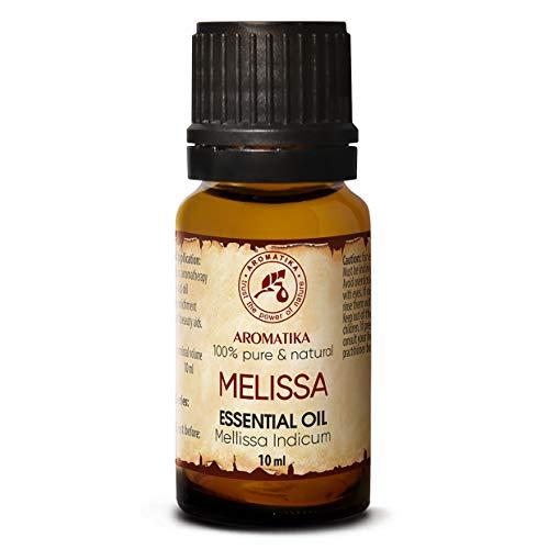 Zitronenmelisse Öl 10ml - Mellissa Indicum - Indien - 100% Reine & Natürliche Zitronenmelliseöl - Melissenöl für Guten Schlaf - Rumduft - Aromatherapie - Spa - Aroma Diffuser - Duftlampe