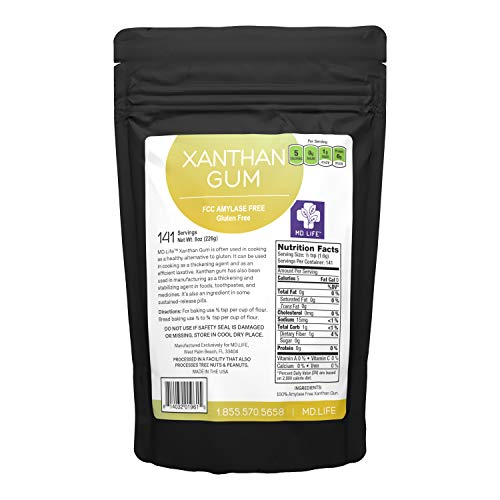 MD. Life Xanthan Gum Powder 8 OZ – 100% Natural – Xanthan Gum Keto Friendly – Gluten Free – Carb Free – Low Carb Xanthan Gum for Baking, Cooking & Thickening Agent Jelly, Ice Cream, Sauce & Gravy