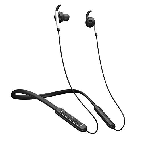 Lukasa Neckband V4.1 Bluetooth Headphones with ANC Active Noise Cancelling HiFi Stereo in-Ear Wireless Earbuds with Built-in Mic 8 Hour Playtime IPX5 Sweatproof Sports Headset