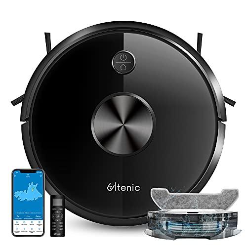 Ultenic D5s Pro Saugroboter mit Wischfunktion, 2500Pa leistungsstarker Staubsauger Roboter - WLAN Roboterstaubsauger mit Teppicherkennung - Google Home, Alexa& App-Steuerung