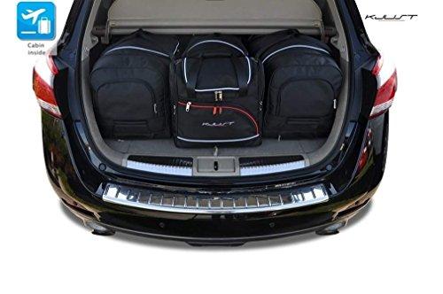 KJUST Dedizierte Reisetaschen 4 STK kompatibel mit Nissan Murano II 2008-2015