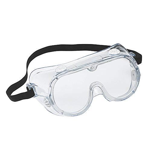 Festnight Occhiali di Sicurezza Protezioni da Lavoro, Occhiali Antinebbia Regolabili per Gli Occhi da Particelle Volanti Liquido Splatter Polvere Vento Fumi chimici Spruzzata, Unisex (1pc)
