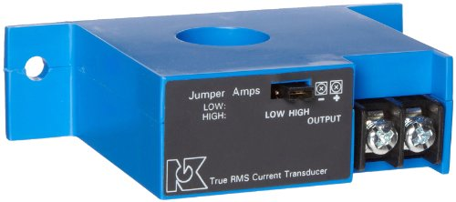 NK Technologies ATR2-420-24L-FT RMS Current Transducer, Solid-core, Top Term, 4-20mA Output Range, 0-100, 0-150, & 0-200A Input Range, 12-40VDC Power Supply