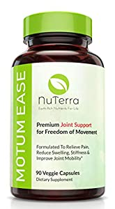 Pain Relief & Joint Support Supplement for Back, Hips, Hands & Knees - 2,100mg Glucosamine + Chondroitin + MSM + Turmeric + Boswellia - Natural Antioxidant Anti-Inflammatory. Motum Ease 100% US Made