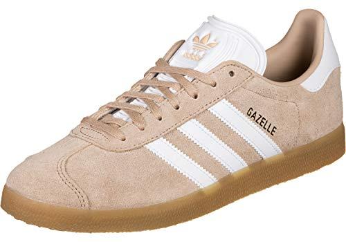 adidas Gazelle, Zapatillas de deporte para Hombre, Blanco (Ash Pearl S18/Ftwr White/Gum 3), 42 EU