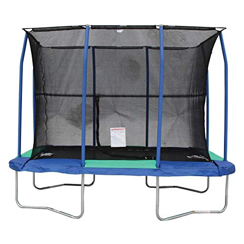JumpKing 7 x 10 Foot Rectangular Galvanized Trampoline with...
