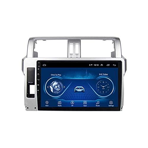 Coche GPS Pantalla táctil Navegación Radio Estéreo Reproductor multimedia Soporte Mirrorlink Wifi 4G Mapa Bluetooth Llamadas manos libres para Toyota Prado 2014-2017,8 Core 4G + WiFi: 2 + 32GB