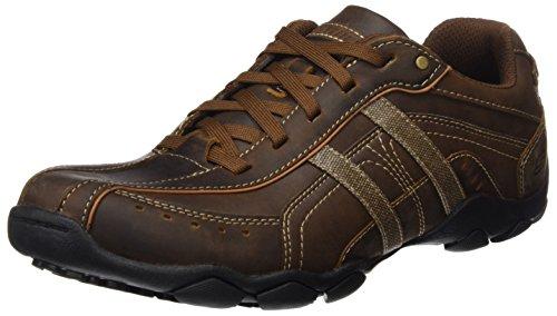 Skechers Men's Diameter 2-Guy Thing Oxford,Brown Leather,10.5 M US
