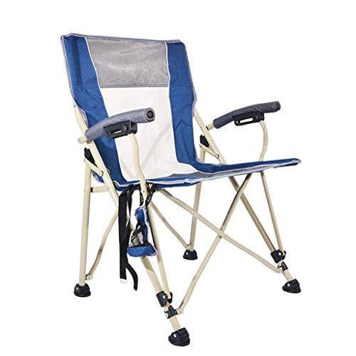 KAISIMYS Outdoor Klappstuhl Skizze mesa y silla portátil playa Outdoor pesca gran Regisseur sillón (60 * 62 * 89 cm)