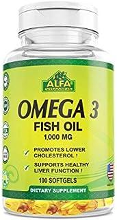 Alfa Vitmains Omega 3 1000 Mg Softels, 100 Count