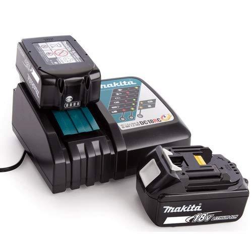Makita 2 x BL1840 18 V LXT 4.0 Ah Batería Twin + DC18RC Li-Ion 7.2 V-18 V Cargador Rápido