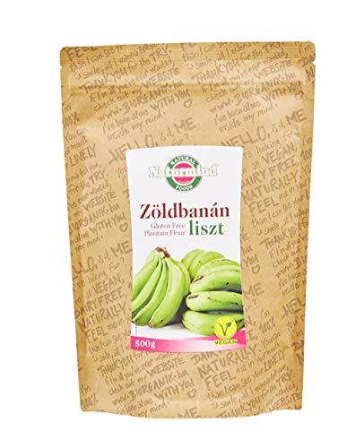 Naturmind Green Banana (Plantain) Flour, Grüne Bananenmehl, Kochbananenmehl 500g, Glutenfrei, Paleo-Vegan Produkte