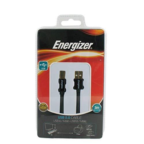 Energizer LCAECUSBAB30 - Cable USB 2.0 de 3  metros