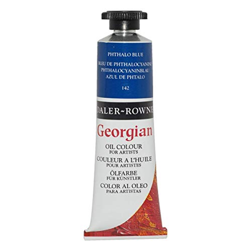 Daler-Rowney Georgian Oil Colors, 38ml, Primary Cyan (111014142)