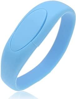 Thumb Drive 64GB Bracelet USB 3.0 Flash Drives, Kepmem Fashinable Jump Drive Wristband Memory Stick, Blue 64 GB Zip Dirve Data Storage Gift