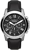 Fossil Leather Mens Quartz Watch