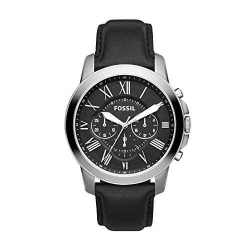 Fossil Chronograph Herren Uhr mit Leder Armband FS4812IE