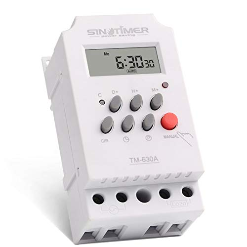 Électronique hebdomadaire 7 jours Numérique Programmable Interrupteur Horaire Relais Minuterie Contrôle