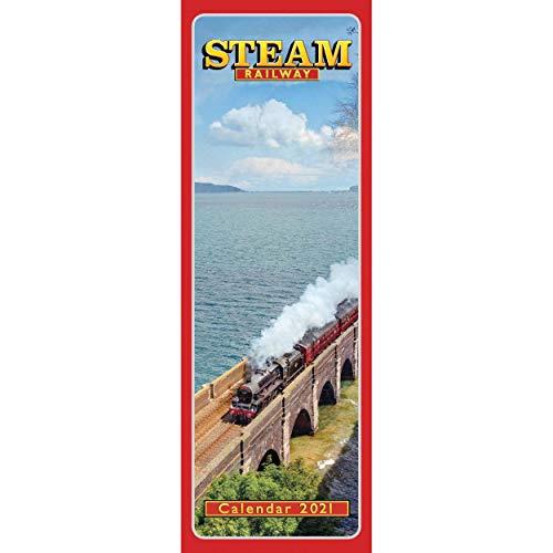 Steam Railway Slim Calendar 2021 (Slim Standard)