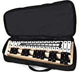 Giantex 27 Note Glockenspiel Xylophone, Percussion Instrument with Wood Base and 27 Metal Keys, Alto Full Size Glockenspiel Xylophone for Adults and Kids- Includes 2 Mallets and Carrying Bag