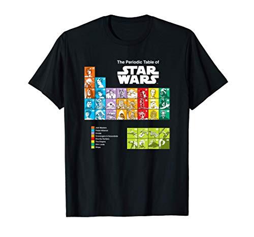 The Periodic Table of Star Wars Maglietta
