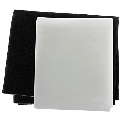 SPARES2GO Universal Cooker Hood Odour and Grease Filter Kit for Extractor Fan...