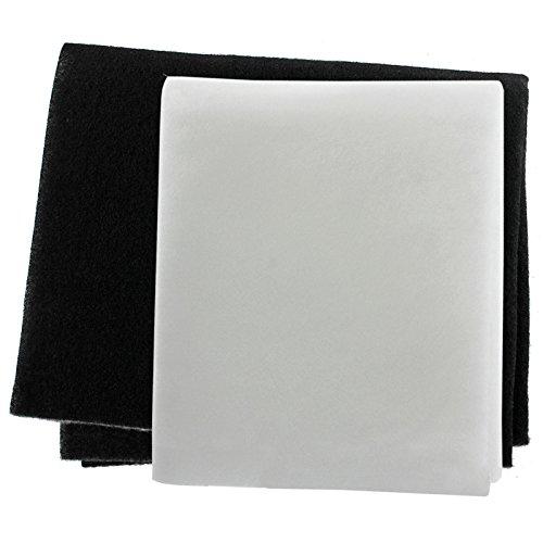 SPARES2GO Kit de filtre à graisse pour hotte aspirante Broan (lot de 2 filtres, à découper sur mesure)