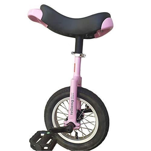 """HWF Einrad Kinder 12\"""" Kleines Einrad für Anfänger Kleinere Kinder/Kinder / 5 Jahre Alt - Perfekte Starter Uni, Rosa (Color : Pink, Size : 12 Inch Wheel)"""