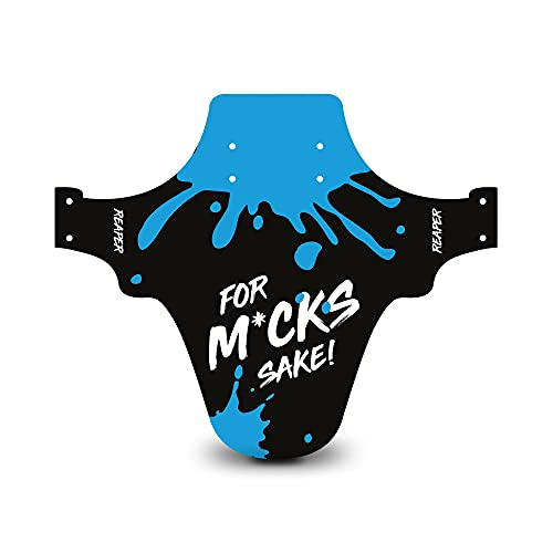 Reaper Accessories Easy-fit Front Mountain Bike Mud Guard Cycle Cycling Fender - Fits 24', 26' & 27.5' - For M*ck's Sake! Blue Enduro