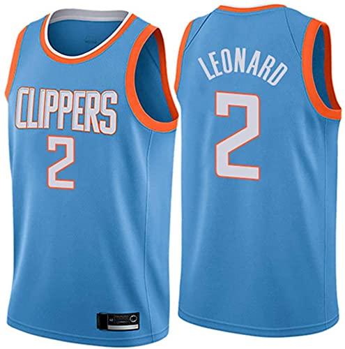 Ropa Camisetas de baloncesto de los hombres, LOS ANGELES CLIPPORES # 2 KAWHI LEONARD NBA VERANO MANERA sin mangas camisetas sueltas y transpirables Uniformes de baloncesto Casual Chalecos deportivos,