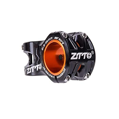 Aushöhlen 0 Grad steigen DH Uhr Enduro Fahrrad 50mm MTB Vorbau Für 35 mm / 31,8 mm Lenker (schwarz) Aluminiumlegierung CNC Stem DEjasnyfall