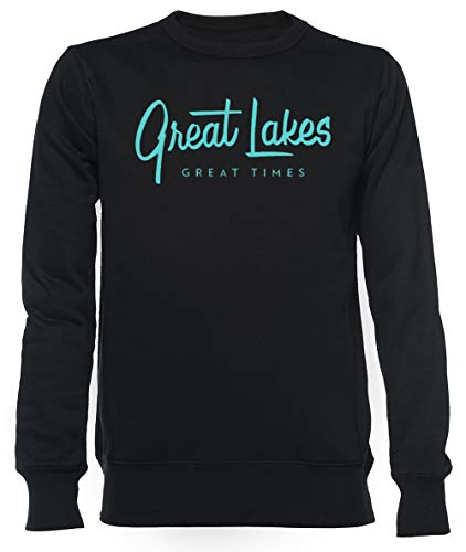 Great Lakes, Great Times - Typography Unisexo Hombre Mujer Sudadera Negro Unisex Men