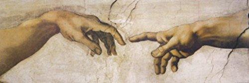1art1 Michelangelo Buonarroti - Die Erschaffung Adams, Detail, 1508-1512, 1-Teilig Fototapete Poster-Tapete 250 x 79 cm