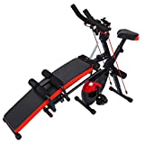 YIWULA All-in-One Fitness Equipment,Indoor Home Cycling Bike Abdominal Trainers Push Ups Abdominal Twister Trainer Ab Rocket Exerciser Crunch Beauty Sit-up Exercise Abdominal Workout (Black)