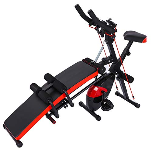 Best Price Wenini Combination Fitness Machine Indoor Gym Cycling Bike Abdominal Trainers Push Ups Wo...