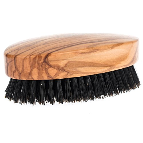 Fendrihan Genuine Boar Bristle and Olivewood Military Hair Brush,...