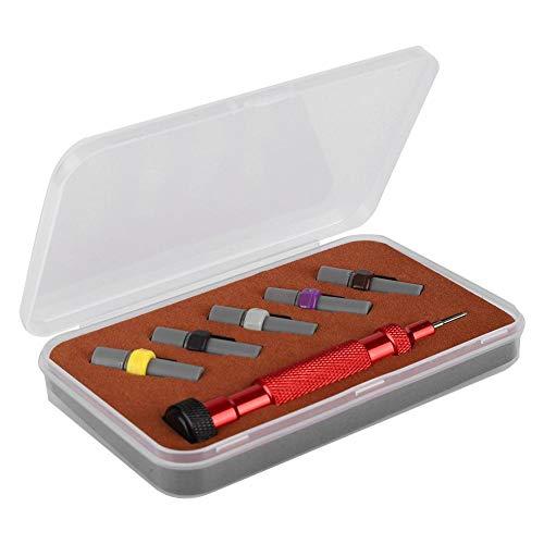 Destornillador de precisión micro 2Set, kit de destornillador premium con 2 destornilladores y 10 cuchillas de repuesto adicionales para reparación de relojes, reparación de anteojos