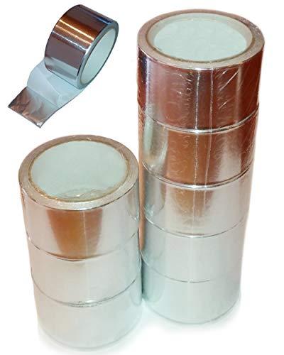 8 Rollen Industrie Aluminiumklebeband Aluband Alu Klebeband 50 mm