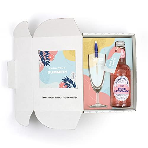 THNX – Zomer cadeau – Zomer – Vakantie – Limonade – Champagne glas – Relax – Geschenkdoos