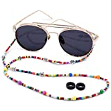 Kalevel Eyeglass Chains Glasses Beaded Lanyard Cord Chain Sunglass Strap with Silicone Temple Tips for Women Girls Stylish