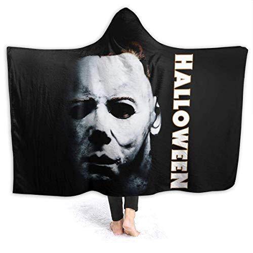 N-A Horror Michael-Myers Halloween Hooded Blanket Anti-Pilling Flannel Blanket, Wearable Throw...
