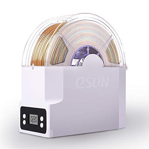 eSUN eBox Scatola di Immagazzinaggio per Filamento Stampante 3D, Supporto Bobina, Mantiene il Filamento Asciutto e Misurare il Filamento Peso, Compatibile con 1.75mm, 2.85mm, 3.00mm, Adattatore EU
