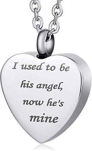 Einäscherung Schmuck Herzförmige Halskette Urne Zum Gedenken An Souvenirs Anhänger Grabschmuck Silber Einäscherung Asche Anhänger Andenken