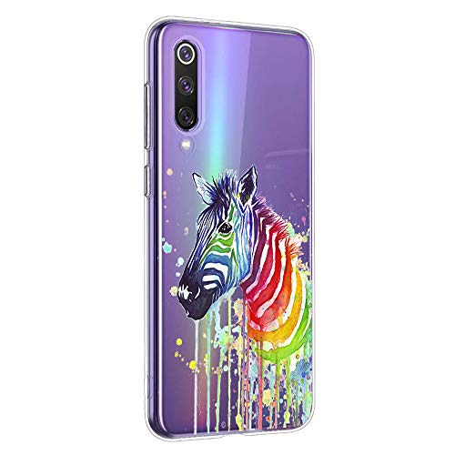 Oihxse Compatible con Xiaomi Redmi Note 4X/Note 4 Funda Suave Gel TPU Silicona Cristal Transparente Carcasa Acuarela Animal Pintado Patrón Protectora Estuche Bumper Caso Case (B10)