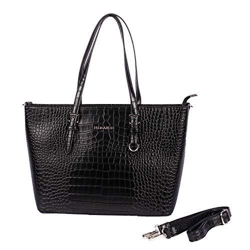 Flora & Co handtas 9527 dames werk shopper elegant handvat tas voor kantoor school