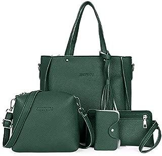 Viyado 4 Pieces Lady Fashion Handbag Shoulder Bag Satchel Set
