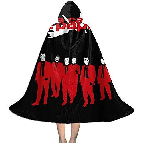 Niet geschikt voor volwassenen, luxe omhanging, hekmagische omhanging, kap met capuchon, La Casa De Papel Reservoir, hond Vampier-omhanging, Halloween-party decoratie outwear, heksen toveringsgordel